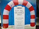Gemmy Airblown Inflatable Candy Cane Archway with Disco Lights - Outdoor Holiday Decoration, 12-foot Tall