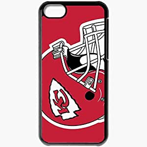Personalized iPhone 5C Cell phone Case/Cover Skin 1442 kansas chiefs Black