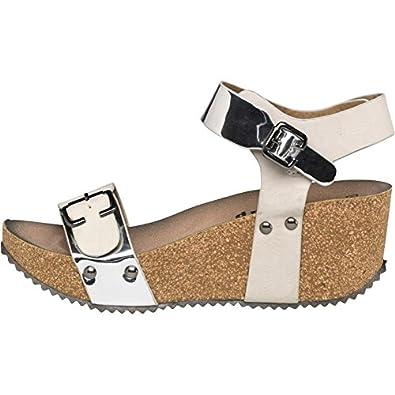 b89bda0781 Firetrap Womens Merlot Wedge Sandals Grey/Silver (3 UK 3 EUR 36 ...