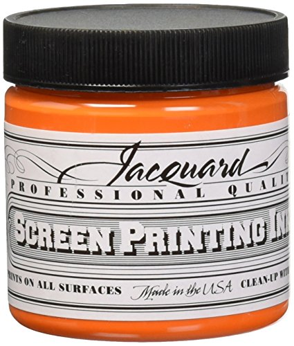 Jacquard JAC-JSI1103 Screen Printing Ink, 4 oz, Orange