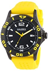 Haurex Italy Men's 3N500UNY Factor Black Ion-Plated Coated Stainless Steel Rotating Bezel Date Watch