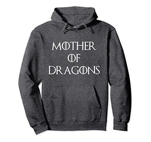 Unisex Cute & Unique White Mother of Dragons T-shirt S010165 Medium Dark Heather (White Dragon Shirt Gold)