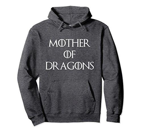 Unisex Cute & Unique White Mother of Dragons T-shirt S010165 Medium Dark Heather (White Shirt Gold Dragon)