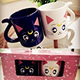 20th Anniversary Luna & Artemis Lovers Mug sailormoon Cup Set of 2 Gift