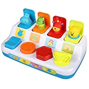 PEATAO Baby Brilliant Basics Pop-up Activity Colorful Animal Shapes & Colors Early Development Toys (US STOCK)
