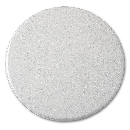 Arstar, Lazy Susan Turntable, 16 inches, Granite, Snow Dritf