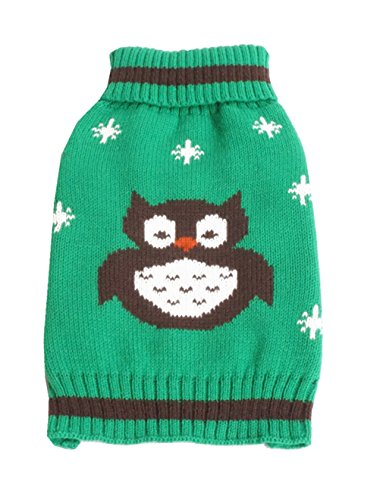 [Uniquorn 2016 New European And American Popular Pet Clothing Owl Pattern Pet Sweater Halloween Dog Sweater Pet] (Customes Halloween Maternity)
