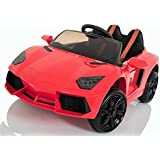 Kids Lamborghini Aventador Style Roadster 12V Battery Electric Ride on Car with Remote Control - Red