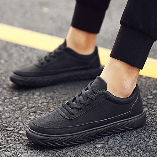 NANXIEHO La Hommes Dentelle Personnalité Chaussures PU Tendance Sneakers Sport De Mode Hommes Loisirs Run nrXXqtz