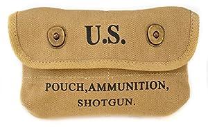 World War Supply US WW2 Canvas Shotgun Shell Ammunition Pouch marked JT&L 1942