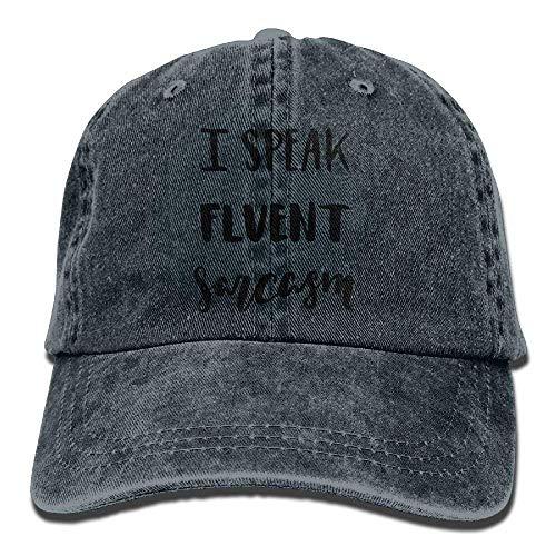 Sport I Hat Women Cowgirl Cowboy Men Denim Cap for Speak Skull Sarcasm DEFFWB Fluent Hats S45qnqvw