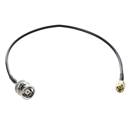 TOOGOO(R) 12.6 pulgada Cable coaxial Adaptador de antena SMA macho a enchufe hembra