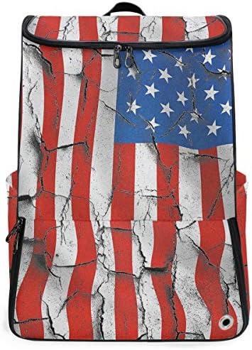 リュック メンズ レディース リュックサック 3way バックパック 大容量 ビジネス 多機能 割れたアメリカの旗 スクエアリュック シューズポケット 防水 スポーツ 上下2層式 アウトドア旅行 耐衝撃
