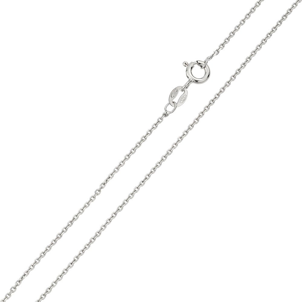 Princess Kylie Rhodium Plated Sterling Silver DC Anchor 035 Chain 1.35mm