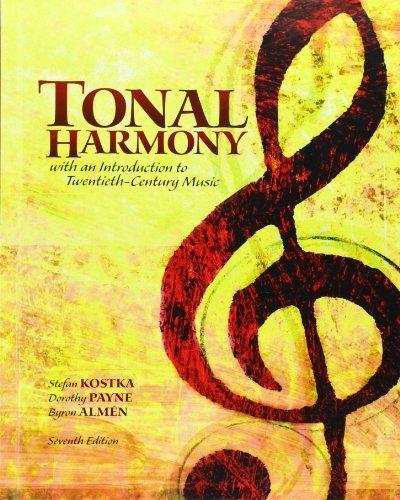 Tonal Harmony 7th (seventh) by Kostka, Stefan, Payne, Dorothy (2012) Hardcover