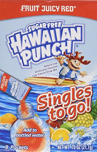 ( Sugar Free Hawaiian Punch Fruit Juicy Red Singles to Go 8 Packets (4 Pack))