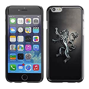 LECELL -- Funda protectora / Cubierta / Piel For Apple iPhone 6 -- Royal Lion Crest --