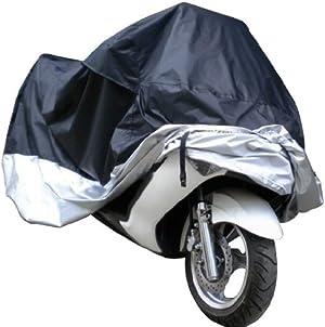 Docooler Waterproof UV Dustproof Cover for Motor Bike/Scooter/Moped, L, (Black)