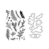 Hero Arts Pine Branches Unmounted Clear Stamp & Die Combo Set (SB133)