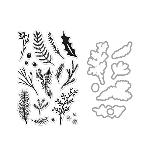 Hero Arts Pine Branches Unmounted Clear Stamp & Die Combo Set (SB133) by Hero Arts
