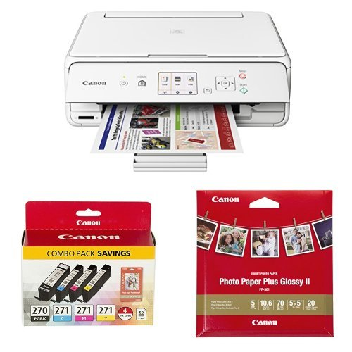 Canon Office Products PIXMA TS5020 BK Wireless color Photo Printer with Scanner&Copier, Black