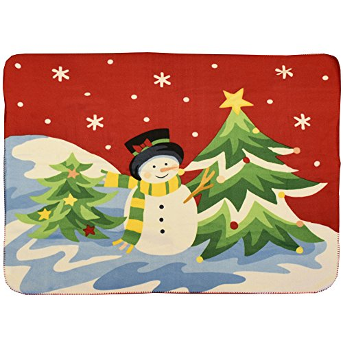 Snowman Christmas Throw Blanket