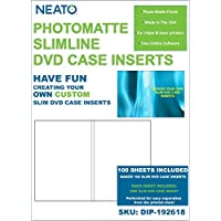 NEATO PhotoMatte SlimLine DVD Case Inserts - 100 Pack - DIP-192618 - Online Design Studio Access Included