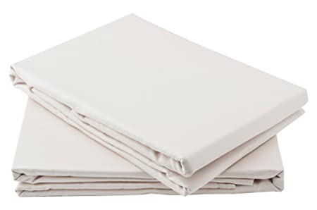 Charming Percale Fitted Sheet 4ft Three Quarter Bed Size Small Double Cream