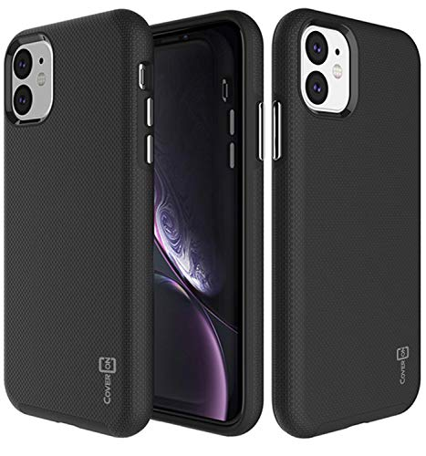 CoverON Slim Protective Hybrid Rugged Series for iPhone 11 Case (2019), Black