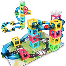 Magnetic Blocks with Marble Run Game - 32pcs STEM Learning Toy for kids, Construction Child Education Track Building Blocks (Storage Bag & Guidebook Include)