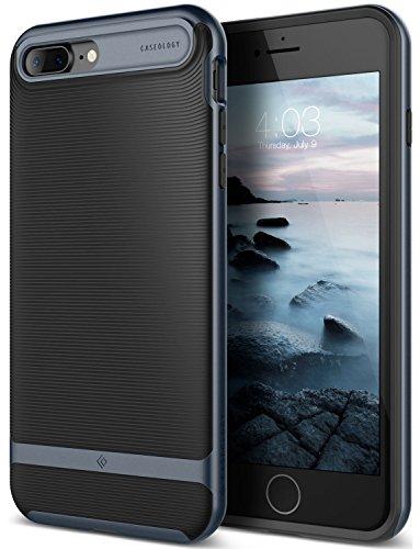 Caseology [Wavelength Series] iPhone 8 Plus/iPhone 7 Plus Case - [Stylish & Protective] - Black/Deep Blue