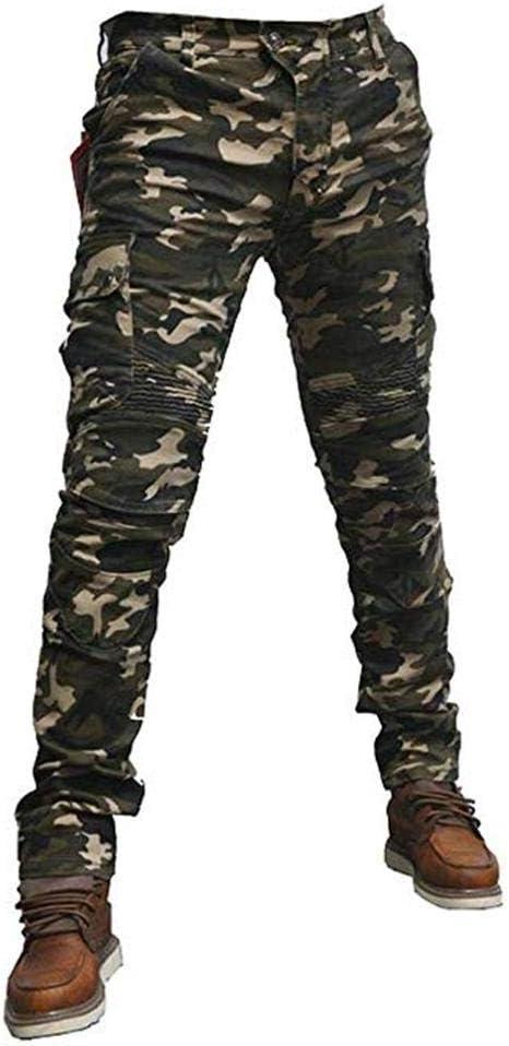 HALOHU Motorradhose Motorradreitschutzhose Jeans Reithose Camo Herren Mit abnehmbaren Ce Armor Knie H/üftpolstern Cargo