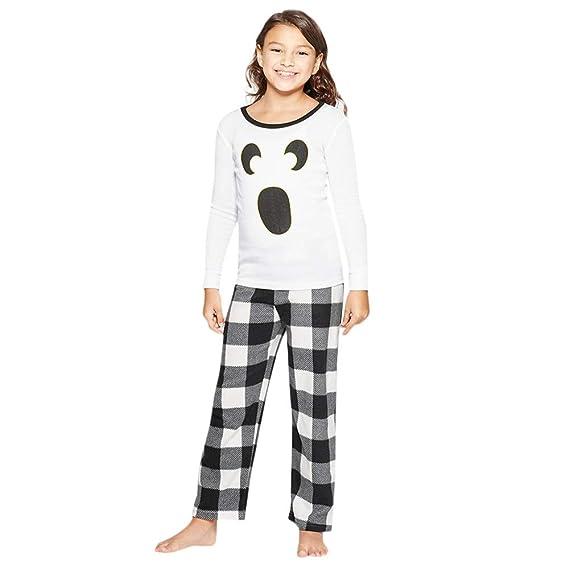 K-youth Ropa de Casa Conjunto de Pijamas Familiares Unisexo Pijamas de Halloween Familiares Ropa