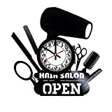 Beauty Salon Art HANDMADE Vinyl Record Wall Clock - Home Decor - Wall Decor - Wall Art - Gift Ideas