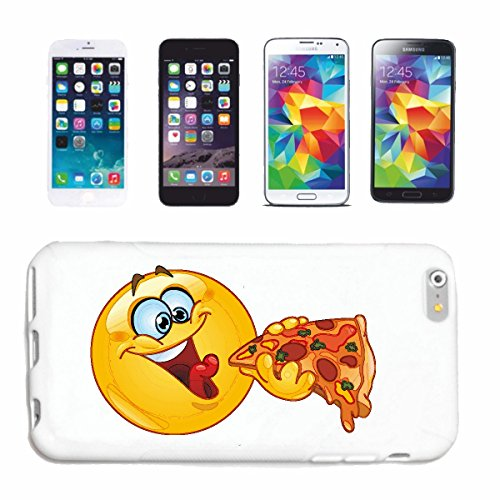 "cas de téléphone iPhone 7S ""FUNNY SMILEY TANDIS PIZZA MANGER ""SMILEYS SMILIES ANDROID IPHONE EMOTICONS IOS sa sourire EMOTICON APP"" Hard Case Cover Téléphone Covers Smart Cover pour Apple iPhone en bl"