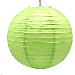 "12"" Lime Green Paper Lanterns : package of 6"