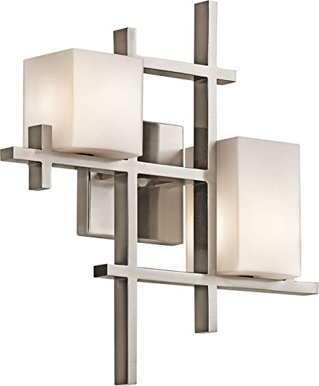 Amazon.com: Kichler City Lights – 2 luz de pared lámpara de ...