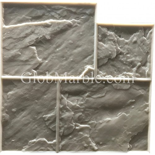 GlobMarble Stamped concrete. Slate Stone Stamp SM 3002/F. Ashlar Slate Concrete Stamp Floopy Mats