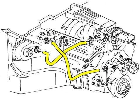 lt5 engine diagram amazon com 1990 1991 c4 corvette engine cooling system rubber  1990 1991 c4 corvette engine cooling
