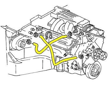 Amazon Com 1990 1991 C4 Corvette Engine Cooling System Rubber Hose