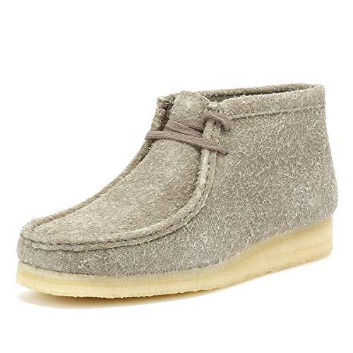 CLARKS Originals Womens Grey Interest Wallabee Boots-UK 3
