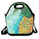 heat cutter bikini - UNERTLY Lunch Boxes Art Painting Pineapple Lunch Tote Lunch Bags