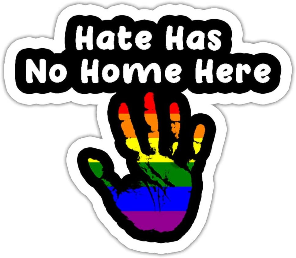 VOTANTA 3 Pcs/Pack - Peaceful Hate Has No Home Here LGBT Sticker Decal Wall Laptop Window Bumper Sticker 3