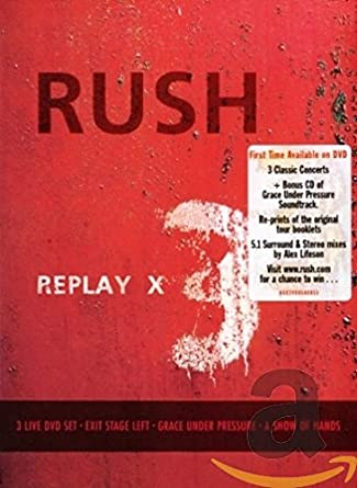 Amazon com: Rush - Replay [3 DVD/CD Box Set]: Rush: Movies & TV