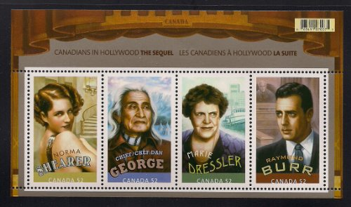 Canadians in Hollywood Raymond Burr Mint Canada Stamps