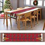 Camino de mesa de Navidad Allnice de 180 cm, camino de mesa de algodón y lino, colección de mesa de Navidad para decoración de mesa (35x180 cm) NO COMPRES A FALSOS VENDEDORES México Gabbiso y Yjiibg