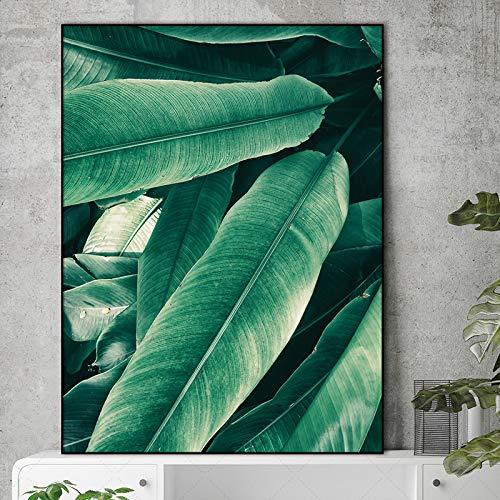 Mural Cartel de Arte Decoración de Plantas Modulares Oficina ...