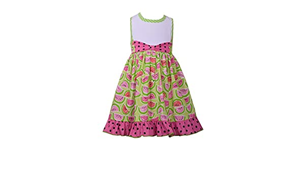 ae284e7f62 Amazon.com  Bonnie Jean Girl s Watermelon Racerback Sundress  Clothing