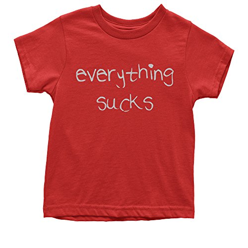 Expression Tees Youth Everything Sucks T-Shirt X-Large Red