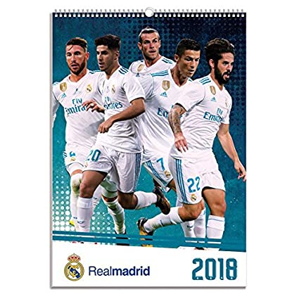 Calendrier Madrid.Calendrier Real Madrid 2018 Amazon Fr Cuisine Maison